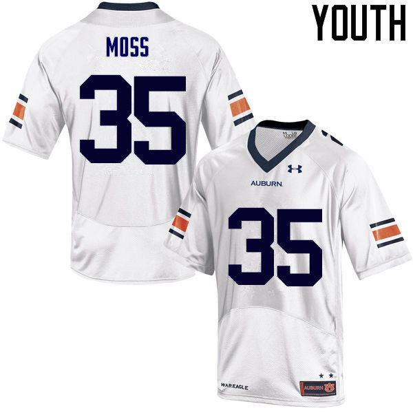 Youth Auburn Tigers #35 James Owens Moss College Football Jerseys Sale-White