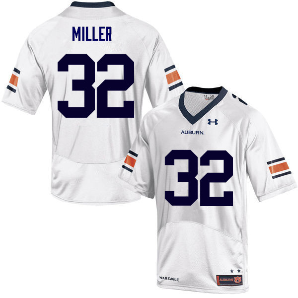 Men Auburn Tigers #32 Malik Miller College Football Jerseys Sale-White