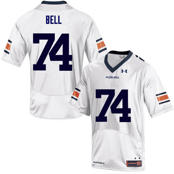 Men Auburn Tigers #74 Wilson Bell College Football Jerseys Sale-White
